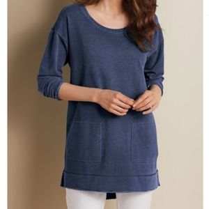 NWT Soft Surroundings Navy Tunic size small